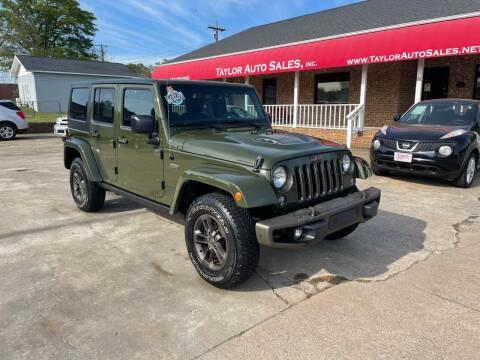 2016 Jeep Wrangler Unlimited for sale at Taylor Auto Sales Inc in Lyman SC