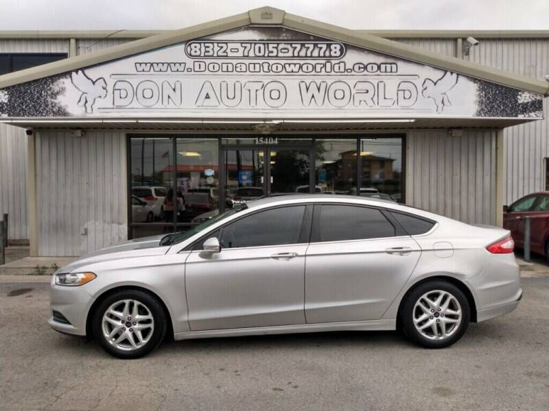 2016 Ford Fusion for sale at Don Auto World in Houston TX