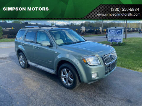2008 Mercury Mariner for sale at SIMPSON MOTORS in Youngstown OH