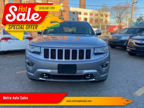 2014 Jeep Grand Cherokee for sale at Metro Auto Sales in Lawrence MA
