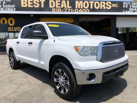 2012 Toyota Tundra for sale at BEST DEAL MOTORS  INC. CARS AND TRUCKS FOR SALE in Sun Valley CA