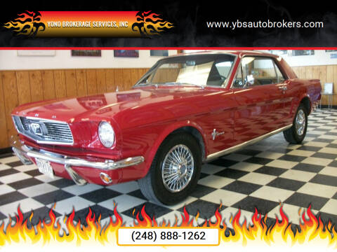 1966 Ford Mustang for sale at Yono Brokerage Services, INC in Farmington MI