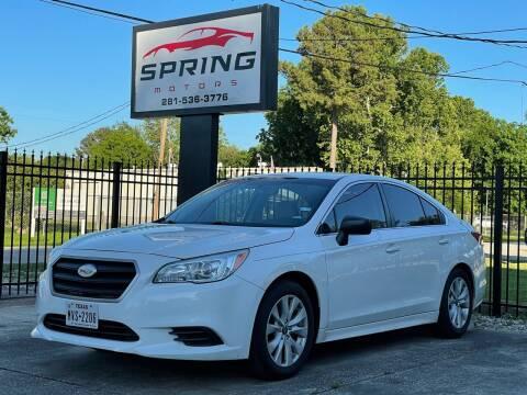 2017 Subaru Legacy for sale at Spring Motors in Spring TX
