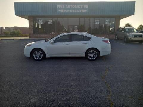 2009 Acura TL for sale at Five Automotive in Louisburg NC