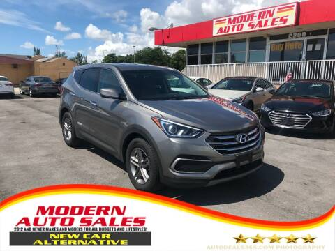 2018 Hyundai Santa Fe Sport for sale at Modern Auto Sales in Hollywood FL