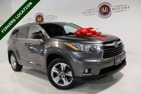 2016 Toyota Highlander for sale at Unlimited Motors in Fishers IN
