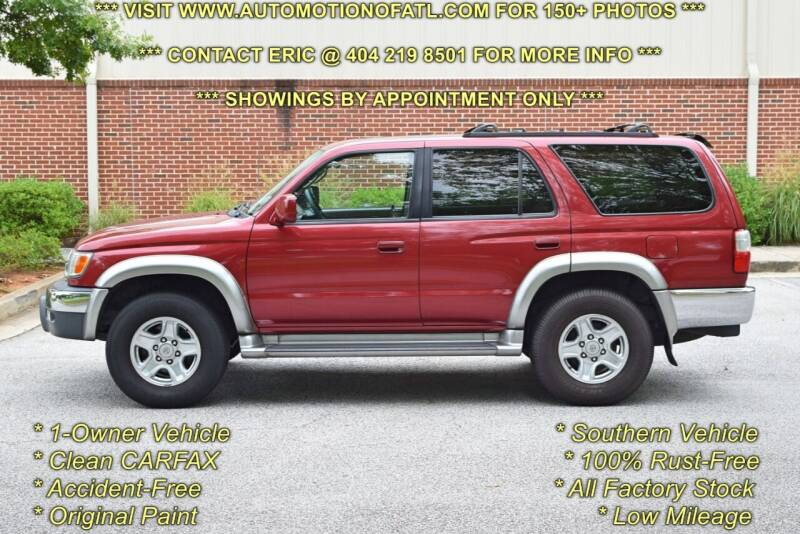 2001 Toyota 4Runner for sale at Automotion Of Atlanta in Conyers GA