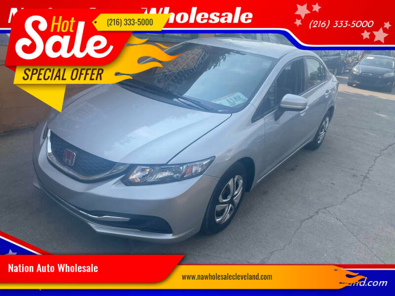 2015 Honda Civic for sale at Nation Auto Wholesale in Cleveland OH