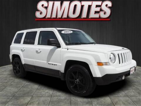 2013 Jeep Patriot for sale at SIMOTES MOTORS in Minooka IL