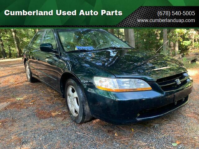 1999 Honda Accord for sale at Cumberland Used Auto Parts in Marietta GA