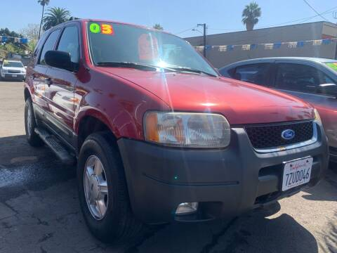 2003 Ford Escape for sale at North County Auto in Oceanside CA