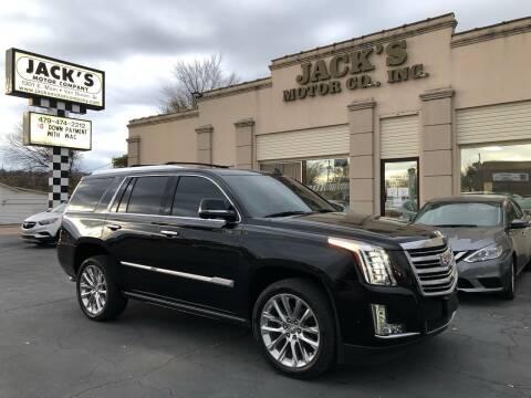 2018 Cadillac Escalade for sale at JACK'S MOTOR COMPANY in Van Buren AR