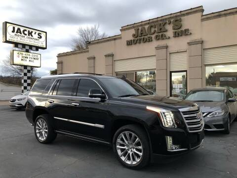 2020 Cadillac Escalade for sale at JACK'S MOTOR COMPANY in Van Buren AR