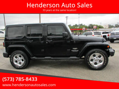 2011 Jeep Wrangler Unlimited for sale at Henderson Auto Sales in Poplar Bluff MO