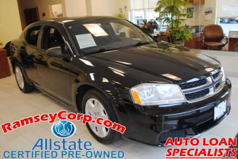 2012 Dodge Avenger for sale at Ramsey Corp. in West Milford NJ