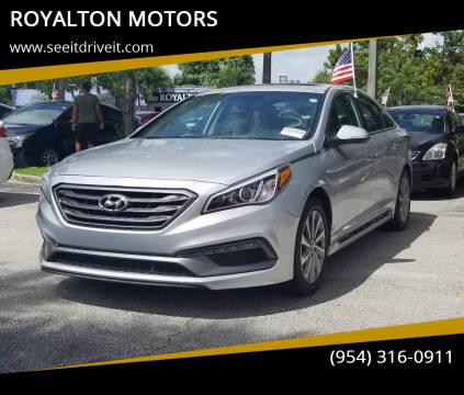 2017 Hyundai Sonata for sale at ROYALTON MOTORS in Plantation FL