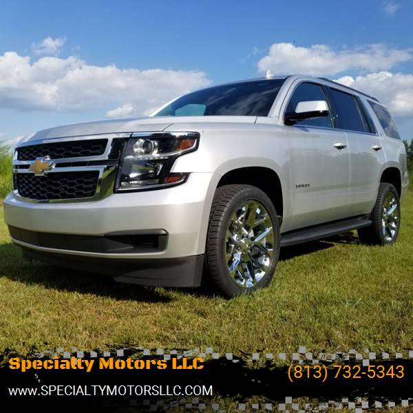 2018 Chevrolet Tahoe for sale at Specialty Motors LLC in Land O Lakes FL