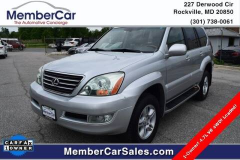 2006 Lexus GX 470 for sale at MemberCar in Rockville MD
