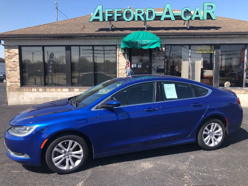 2016 Chrysler 200 for sale at Afford-A-Car in Moraine OH