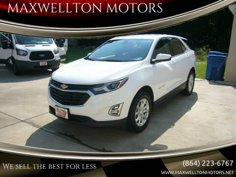 2018 Chevrolet Equinox for sale at MAXWELLTON MOTORS in Greenwood SC