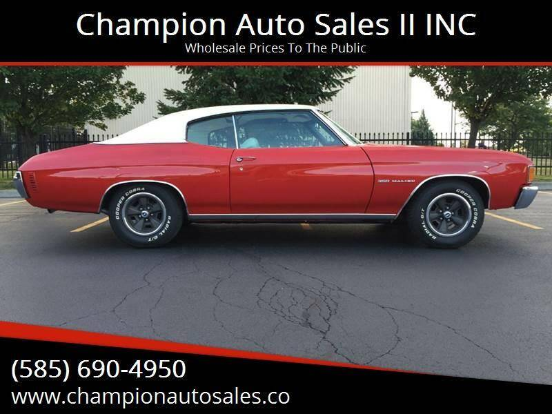 1972 Chevrolet Chevelle for sale at Champion Auto Sales II INC in Rochester NY