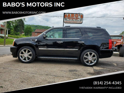 2009 Cadillac Escalade for sale at BABO'S MOTORS INC in Johnstown PA