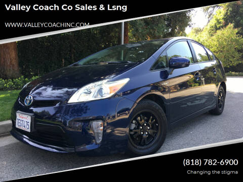 2014 Toyota Prius for sale at Valley Coach Co Sales & Lsng in Van Nuys CA