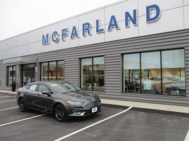 2018 Ford Fusion for sale at MC FARLAND FORD in Exeter NH