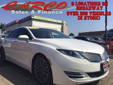 2016 Lincoln MKZ Hybrid for sale at CARCO SALES & FINANCE #3 in Chula Vista CA