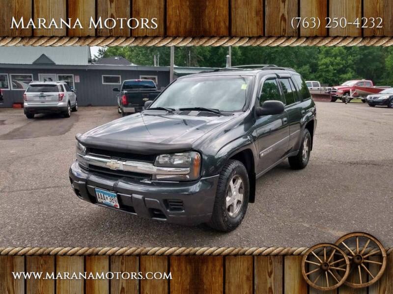2004 Chevrolet TrailBlazer for sale at Marana Motors in Princeton MN