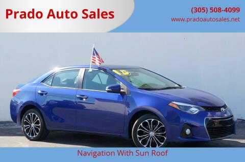 2015 Toyota Corolla for sale at Prado Auto Sales in Miami FL