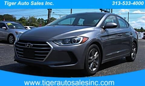 2018 Hyundai Elantra for sale at TIGER AUTO SALES INC in Redford MI