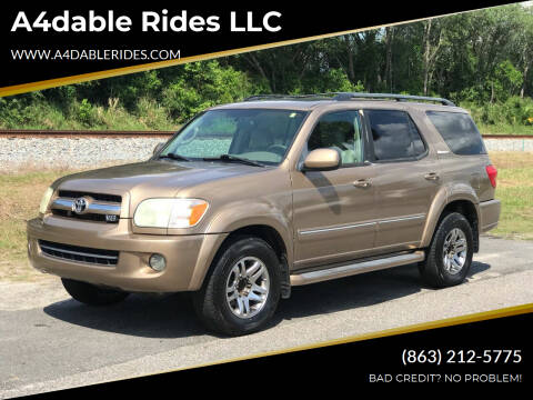2005 Toyota Sequoia for sale at A4dable Rides LLC in Haines City FL