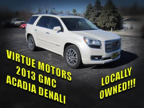 2013 GMC Acadia for sale at Virtue Motors in Darlington WI