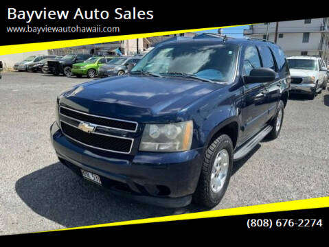 2009 Chevrolet Tahoe for sale at Bayview Auto Sales in Waipahu HI