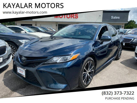 2018 Toyota Camry for sale at KAYALAR MOTORS in Houston TX