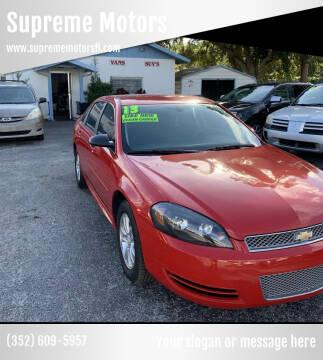 2013 Chevrolet Impala for sale at Supreme Motors in Tavares FL