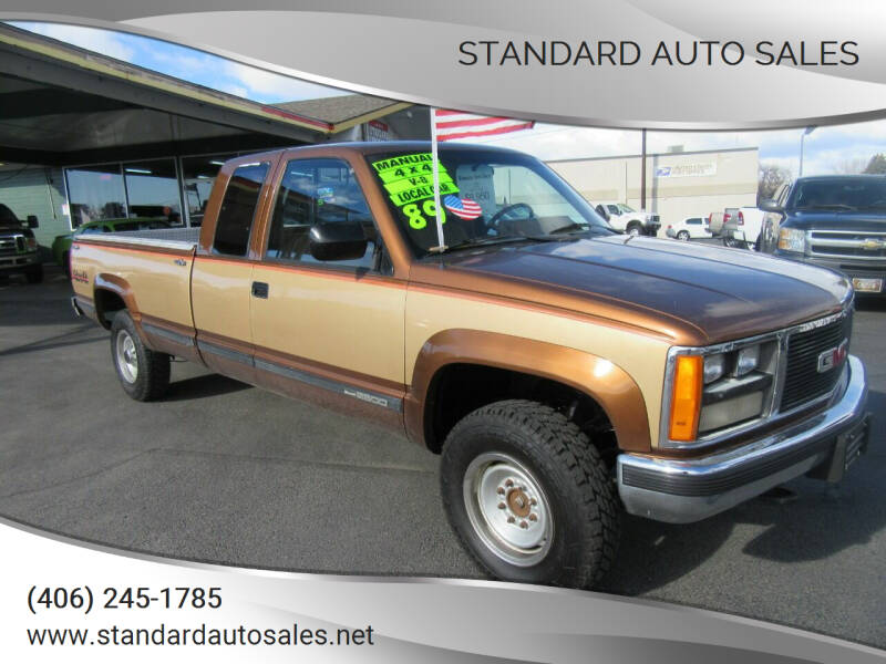 1989 GMC Sierra 2500 for sale at Standard Auto Sales in Billings MT