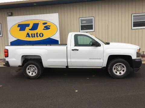 2016 Chevrolet Silverado 1500 for sale at TJ's Auto in Wisconsin Rapids WI