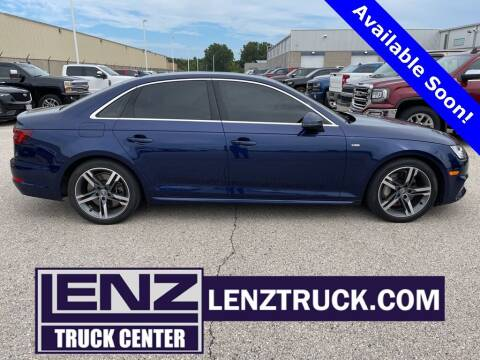 2018 Audi A4 for sale at LENZ TRUCK CENTER in Fond Du Lac WI