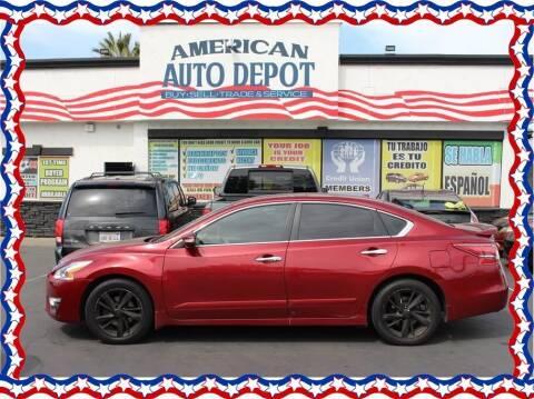 2013 Nissan Altima for sale at American Auto Depot in Modesto CA