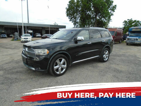 2011 Dodge Durango for sale at J & F AUTO SALES in Houston TX