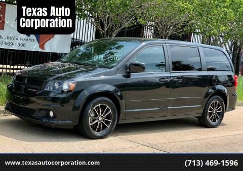 2015 Dodge Grand Caravan for sale at Texas Auto Corporation in Houston TX