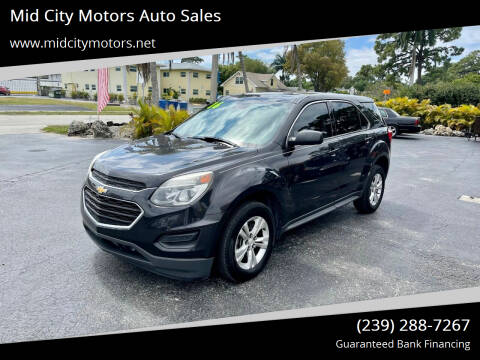 2016 Chevrolet Equinox for sale at Mid City Motors Auto Sales in Fort Myers FL