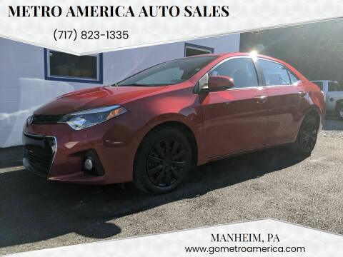 2016 Toyota Corolla for sale at METRO AMERICA AUTO SALES of Manheim in Manheim PA