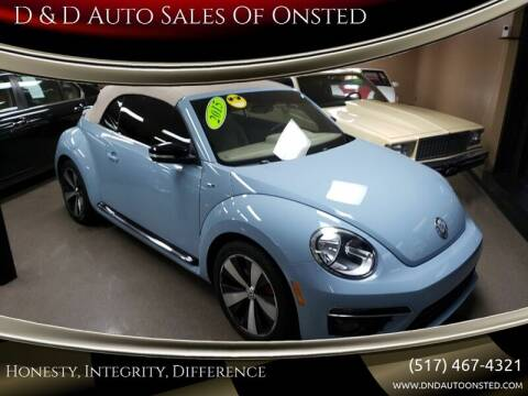 2015 Volkswagen Beetle Convertible for sale at D & D Auto Sales Of Onsted in Onsted   Brooklyn MI