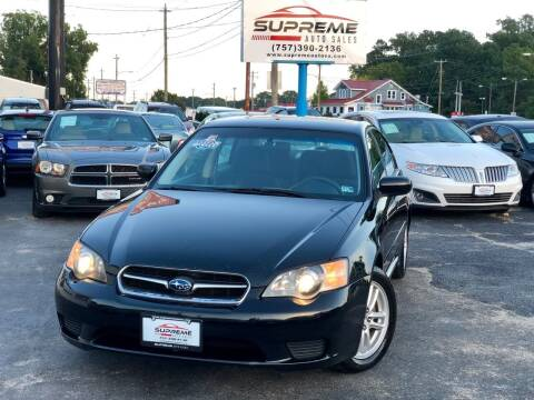2005 Subaru Legacy for sale at Supreme Auto Sales in Chesapeake VA