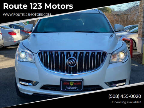 2013 Buick Enclave for sale at Route 123 Motors in Norton MA