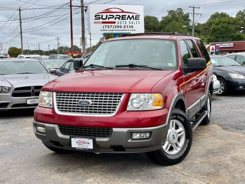 2004 Ford Expedition for sale at Supreme Auto Sales in Chesapeake VA