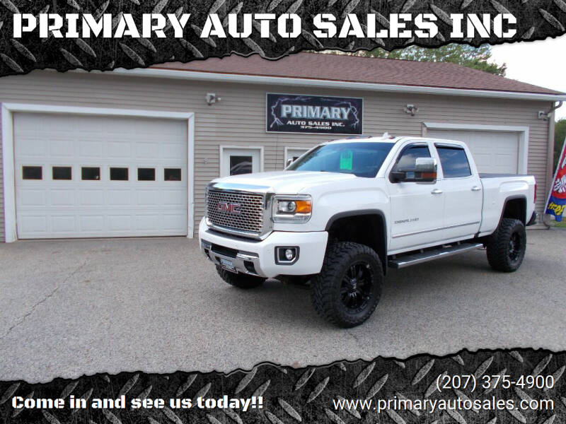 2017 GMC Sierra 2500HD for sale at PRIMARY AUTO SALES INC in Sabattus ME